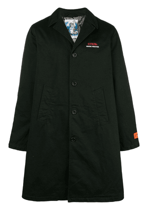 Heron Preston single breasted coat - Black