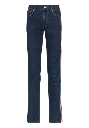 Givenchy Logo Band Slim-Fit Jeans - Blue