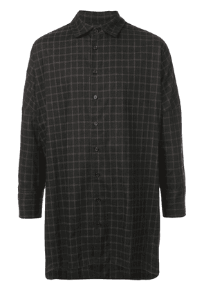 Casey Casey oversized checked shirt - Black