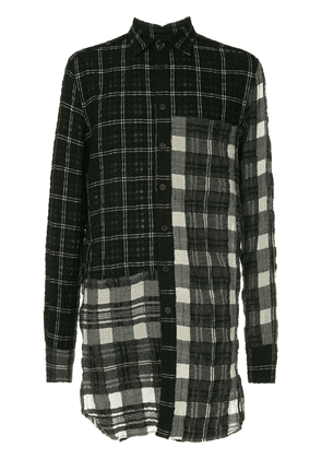 Forme D'expression patched panelled shirt - Black