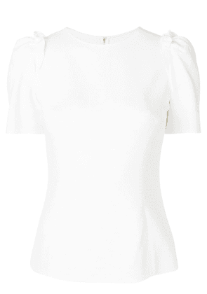 Dolce & Gabbana draped sleeved blouse - White