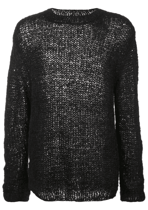 Ann Demeulemeester loose fit knit sweater - Black