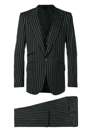 Dolce & Gabbana pinstriped three-piece suit - Black