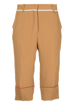 No21 cropped trousers - Brown