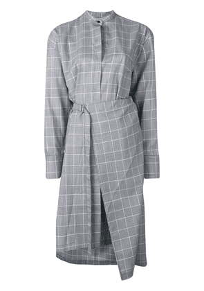 Christian Wijnants Glen check shirt dress - Blue