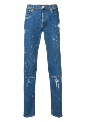 Givenchy distressed slim fit jeans - Blue