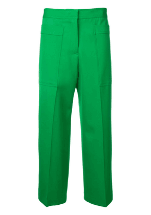 Jil Sander high rise cropped trousers - Green