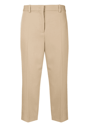 Jil Sander high-rise cropped trousers - Neutrals
