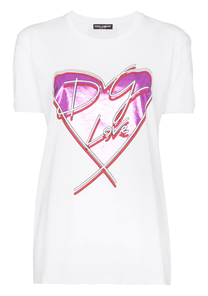 Dolce & Gabbana Love heart T-shirt - White