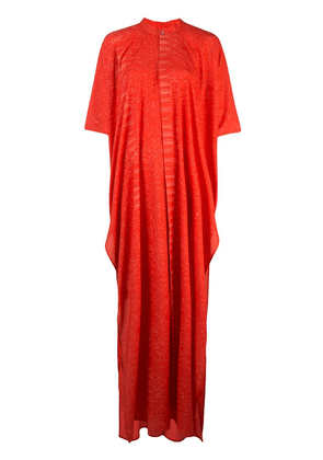 Baja East side slit maxi dress - Red