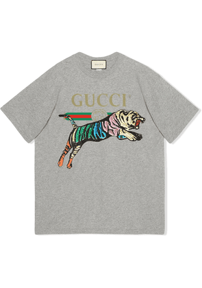 Gucci oversized tiger T-shirt - Grey