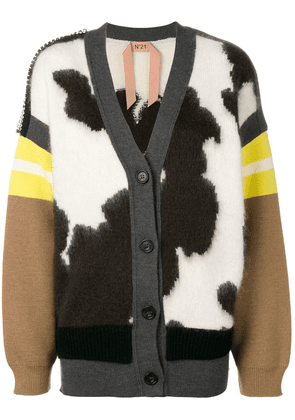No21 colour-block cardigan - Neutrals