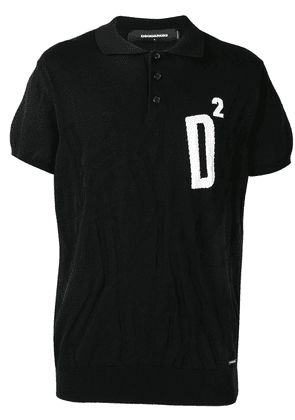 Dsquared2 logo polo shirt - Black