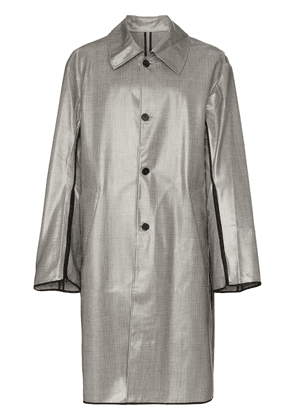 Cmmn Swdn Checked coat - Grey