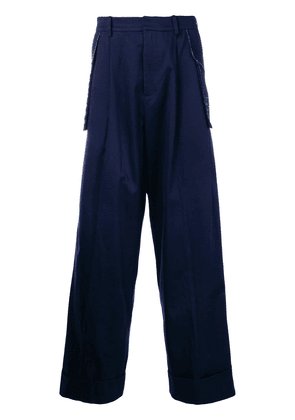 Charles Jeffrey Loverboy wide leg trousers - Blue
