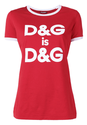 Dolce & Gabbana slogan print T-shirt - Red
