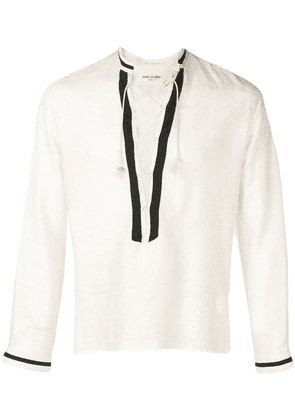 Saint Laurent lace-up tunic - White