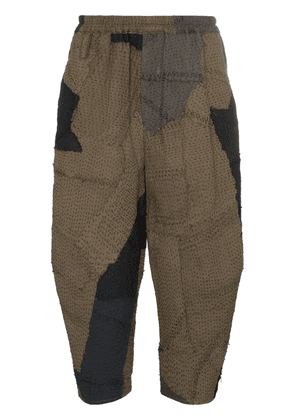 By Walid Mathias Jay patchwork trousers - Green