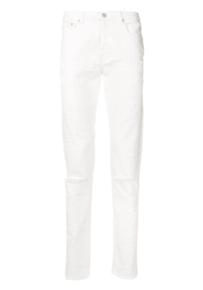 Givenchy distressed straight leg jeans - White