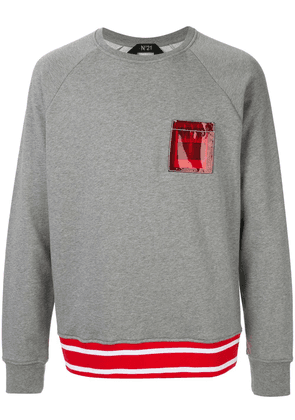 No21 pocket detail sweatshirt - Grey