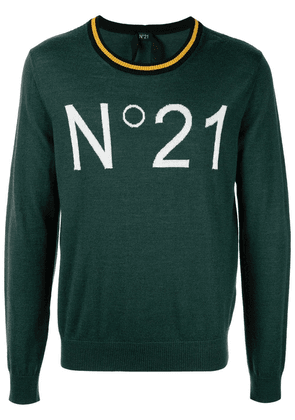 No21 logo jumper - Green