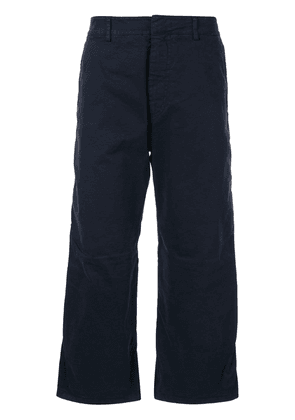 No21 flared cropped trousers - Blue