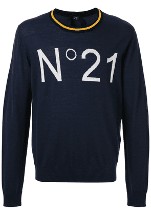 No21 logo jumper - Blue