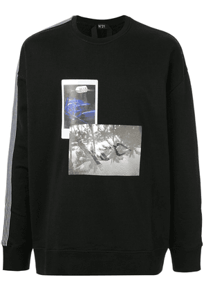 No21 side stripes printed sweatshirt - Black