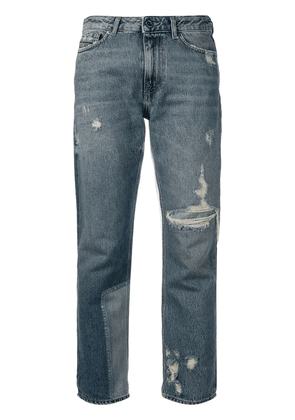Diesel Black Gold straight jeans with bleached patch - Blue