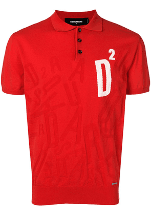 Dsquared2 logo knit polo shirt