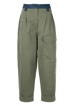 No21 high-waisted cargo trousers - Green