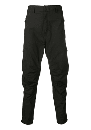 Balmain zip detail tapered trousers - Black