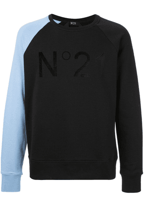 No21 colour block sweatshirt - Black