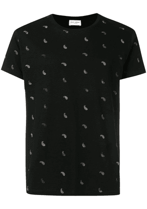 Saint Laurent black graphic print T-shirt