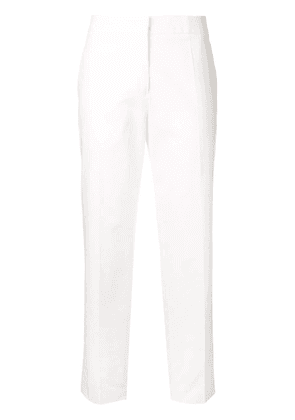 Jil Sander cropped tailored trousers - White