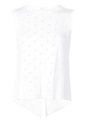 Autumn Cashmere cut out details knitted top - White