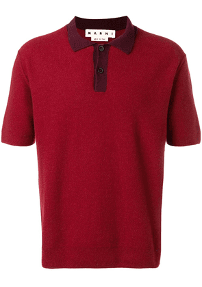 Marni knitted polo shirt - Red