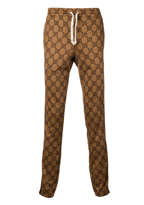 Gucci GG pattern track trousers - Brown