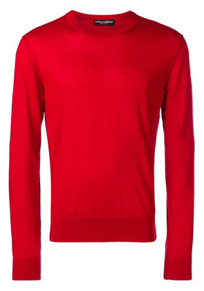 Dolce & Gabbana knit crew neck sweater - Red