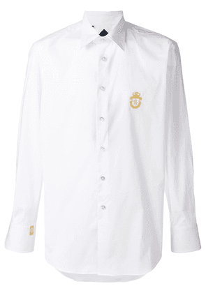 Billionaire embroidered logo shirt - White