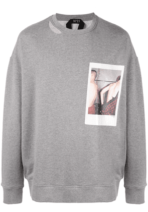 No21 polaroid picture sweater - Grey