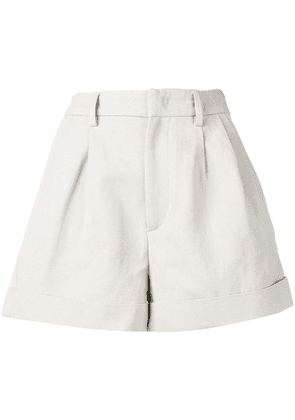Isabel Marant high-waisted shorts - Neutrals