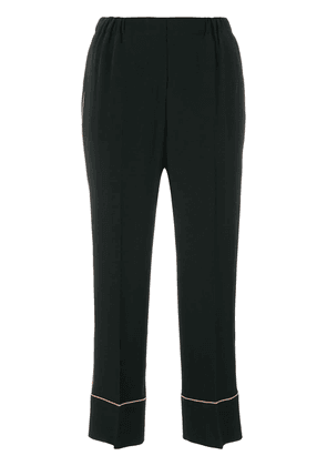 No21 cropped high-waisted trousers - Black