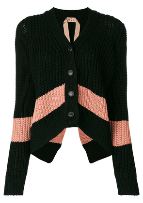 No21 slouchy cropped cardigan - Black