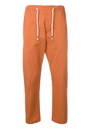 The Silted Company drawstring waist tapered trousers - Orange