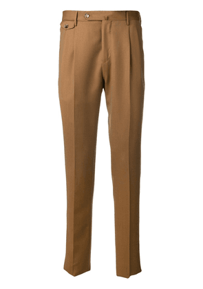 Pt01 pleated tailored trousers - Brown