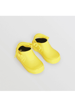 Burberry Childrens Check Detail Rubber Sandals, Yellow