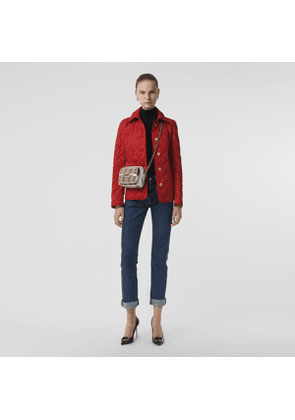 Burberry Diamond Quilted Jacket, Red