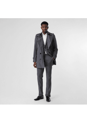 Burberry Short Chelsea Fit Trench Coat, Grey