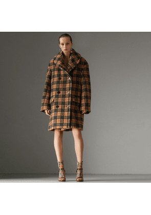Burberry Vintage Check Faux Shearling Coat